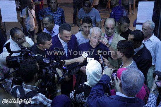 المخرج العالمى يجرى لقاءات تليفزيونية وصحفية مع وسائل الإعلام  -اليوم السابع -6 -2015