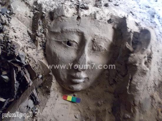 جزء من الكشف الأثرى الجديد بأسوان -اليوم السابع -6 -2015