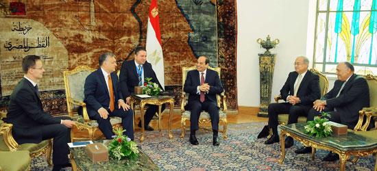 السيسى يشهد توقيع اتفاقيات المجر (2)