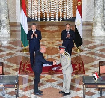 السيسى يشهد توقيع اتفاقيات المجر (10)
