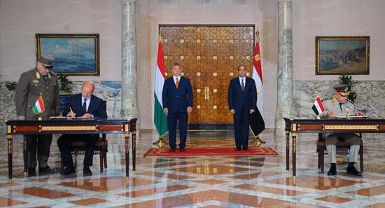 السيسى يشهد توقيع اتفاقيات المجر (13)
