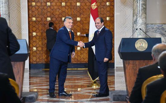 السيسى يشهد توقيع اتفاقيات المجر (14)