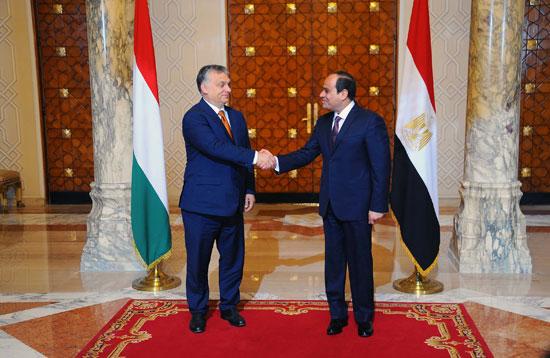 السيسى يشهد توقيع اتفاقيات المجر (5)