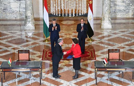 السيسى يشهد توقيع اتفاقيات المجر (8)