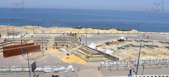 محمد عبد الظاهر محافظ الإسكندرية يتفقد أعمال تطوير منطقة بئر مسعود (4)