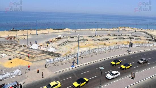 محمد عبد الظاهر محافظ الإسكندرية يتفقد أعمال تطوير منطقة بئر مسعود (5)
