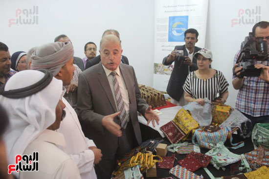 خالد فوده محافظ جنوب سيناء خلال الافتتاح (2)