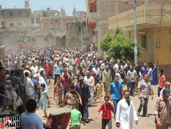 تشييع جثمان أمين شرطة بالدقهلية استشهد فى شمال سيناء (1)