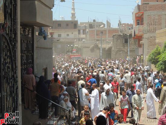 تشييع جثمان أمين شرطة بالدقهلية استشهد فى شمال سيناء (2)