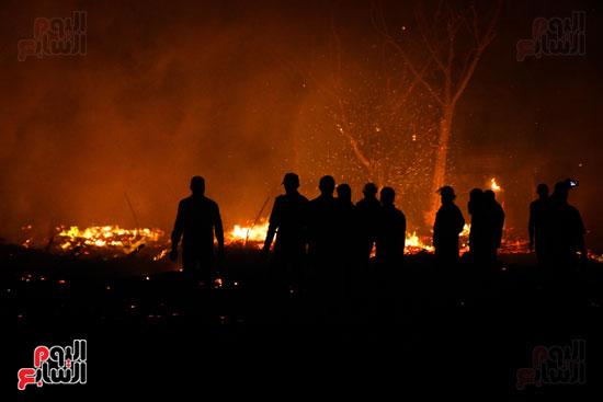 حريق  مدينة السينما بشارع الهرم (1)