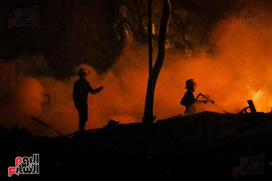 حريق  مدينة السينما بشارع الهرم (7)