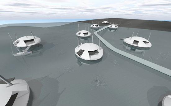 منازل المستقبل عائمة وتعمل بالطاقة الشمسية (2)