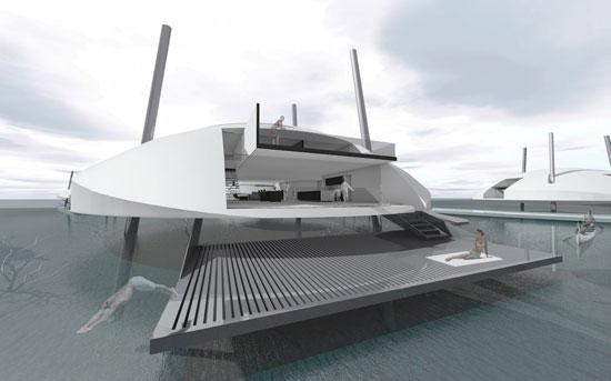 منازل المستقبل عائمة وتعمل بالطاقة الشمسية (3)