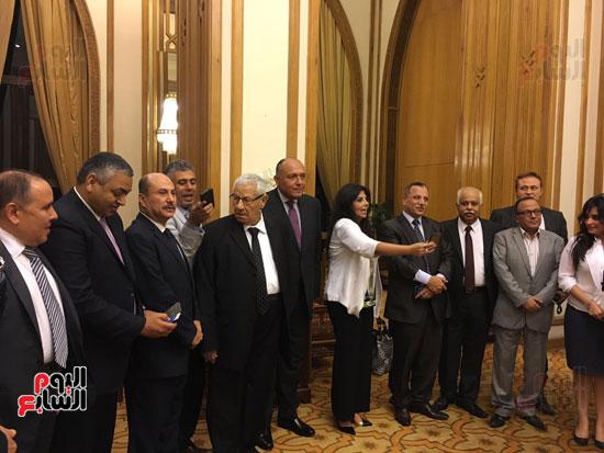 سامح شكرى خلال حفل إفطار رؤساء التحرير والإعلاميين (1)
