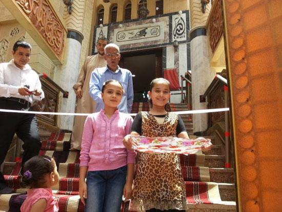 محافظ الغربية ومدير الأمن يفتتحان المسجد الشرقى بقرية ميت هاشم (4)