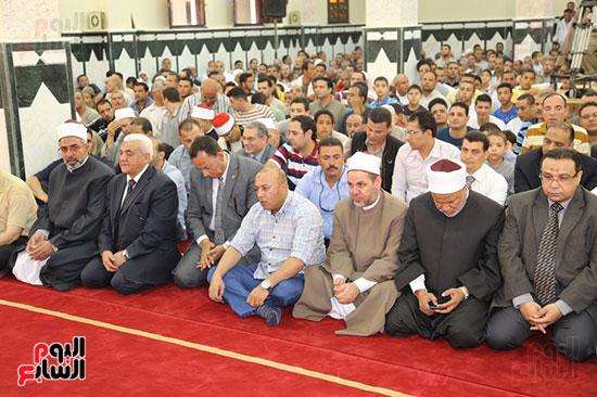 محافظ المنوفية يفتتح مسجد سيدى محمد بقرية زرقان (3)