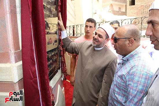 محافظ المنوفية يفتتح مسجد سيدى محمد بقرية زرقان (6)