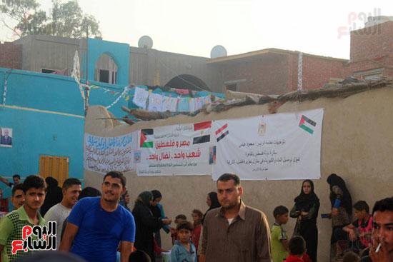 سفارة فلسطين بمصرتتفقد أبناء الجالية الفلسطينية بالشرقية (1)