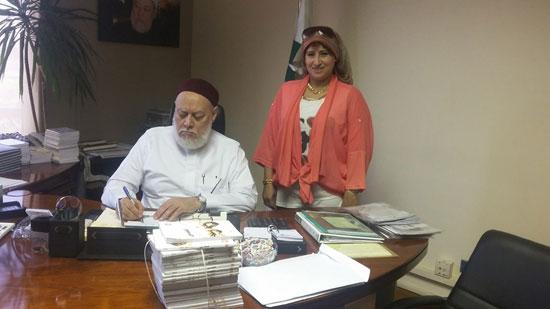 توقيع عقد كتاب تحت عنوان عقيدة أهل السنة والجماعة لاحمد جمعة (4)
