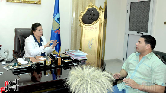 حوار مع لمهندسة نادية عبده نائب محافظ البحيرة (1)