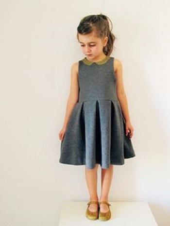 فستان اطفال سادة قصير