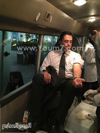 محافظ الإسكندرية يتبرع بالدم -اليوم السابع -7 -2015