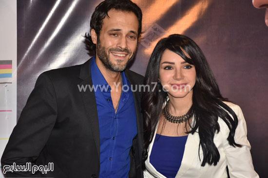 يوسف الشريف وحرمه إنجى علاء كاتبة قصة لعبة إبليس -اليوم السابع -7 -2015