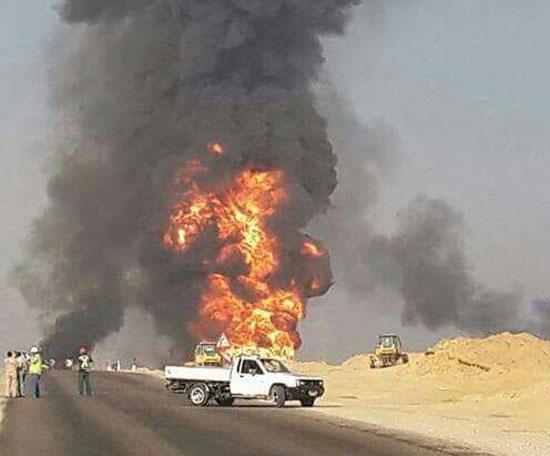حريق خط الغاز -اليوم السابع -7 -2015