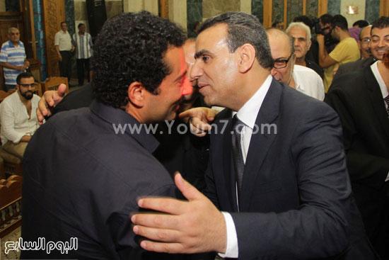 عبد الواحد النبوى وزير الثقافة يرحب بالنجم عمرو سعد -اليوم السابع -7 -2015