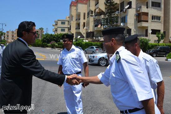 محافظ الاسكندرية يتفقد الوضع الامنى -اليوم السابع -7 -2015