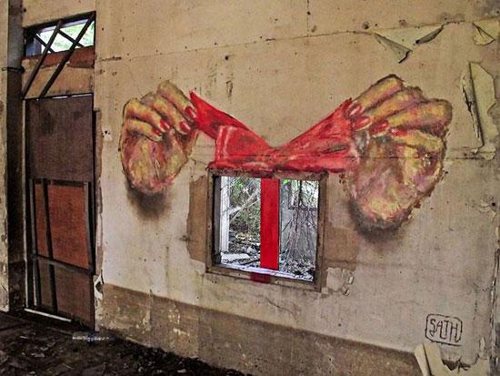 بالصور.. عندما يتناغم الجرافيتى الطبيعة