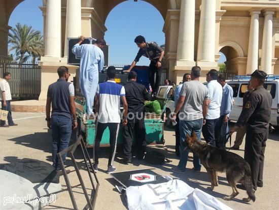 وصول سماعات إضافية وبنارات لإستاد برج العرب -اليوم السابع -7 -2015