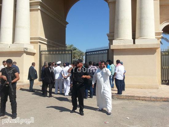 متابعة وتمشيط  قوات الأمن لمحيط إستاد برج العرب -اليوم السابع -7 -2015