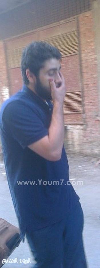 عبد الله محمد مرسى نجل مرسى عقب الإفراج عنه -اليوم السابع -7 -2015