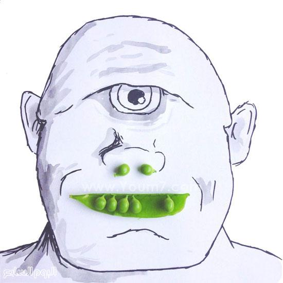 البازلاء بدلا من فتحات الأنف والأسنان -اليوم السابع -7 -2015