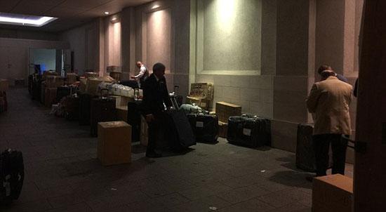 حقائب أمير قطر تملأ لوبى الفندق -اليوم السابع -7 -2015