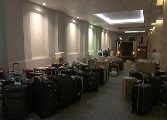 الحقائب فى لوبى الفندق -اليوم السابع -7 -2015