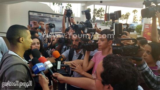 محمد رمضان ولقاء مع الفضائيات المغربية بعد العرض الخاص -اليوم السابع -7 -2015