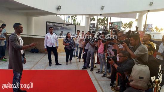 محمد رمضان ومصورى الصحافة المغربية -اليوم السابع -7 -2015