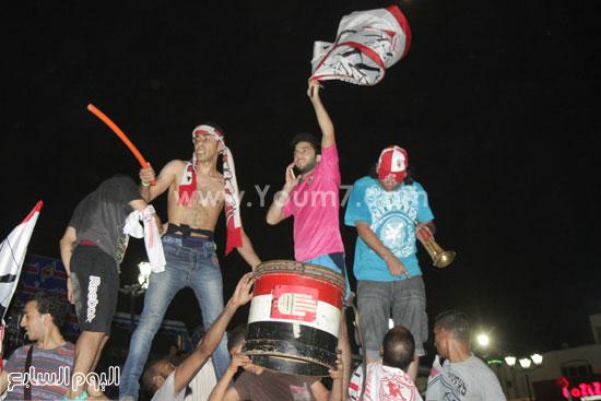 طبلة وبوق فى احتفالات جماهير الزمالك -اليوم السابع -7 -2015