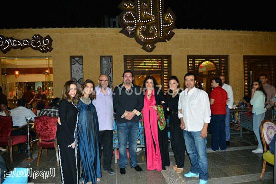 ياسر سليم وعادل أديب والفنانة أنوشكا وإيهاب توفيق والفنانة دنيا -اليوم السابع -7 -2015