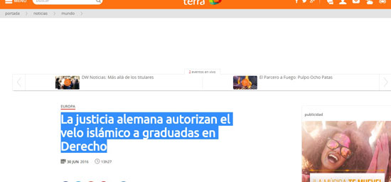 صحيفه اسبانيه
