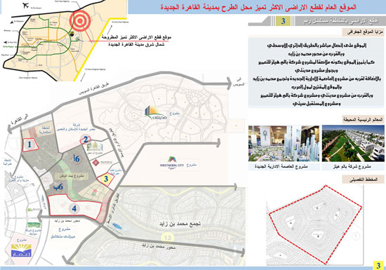 الخرائط.، أراضى القرعة التكميلية،الإسكان، القاهرة الجديدة (3)