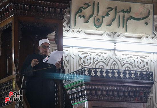 كلمة وكيل وزارة الأوقاف عبد الناصر نسيم من منبر مسجد أبو العباس عن الخطبة المكتوبة و تفعيلها من اليوم (1)