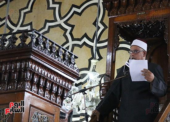 كلمة وكيل وزارة الأوقاف عبد الناصر نسيم من منبر مسجد أبو العباس عن الخطبة المكتوبة و تفعيلها من اليوم (3)