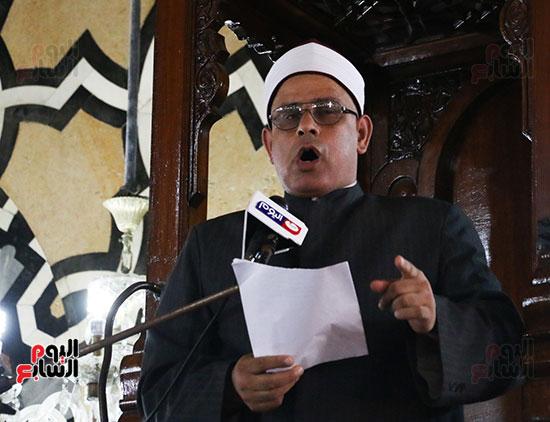 كلمة وكيل وزارة الأوقاف عبد الناصر نسيم من منبر مسجد أبو العباس عن الخطبة المكتوبة و تفعيلها من اليوم (4)