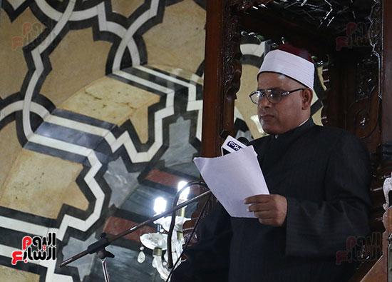 كلمة وكيل وزارة الأوقاف عبد الناصر نسيم من منبر مسجد أبو العباس عن الخطبة المكتوبة و تفعيلها من اليوم (5)