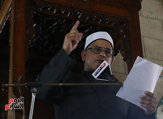 كلمة وكيل وزارة الأوقاف عبد الناصر نسيم من منبر مسجد أبو العباس عن الخطبة المكتوبة و تفعيلها من اليوم (6)