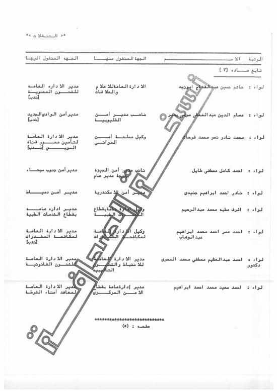 الحركة الكاملة لتنقلات الداخلية على مستوى الجمهورية (5)