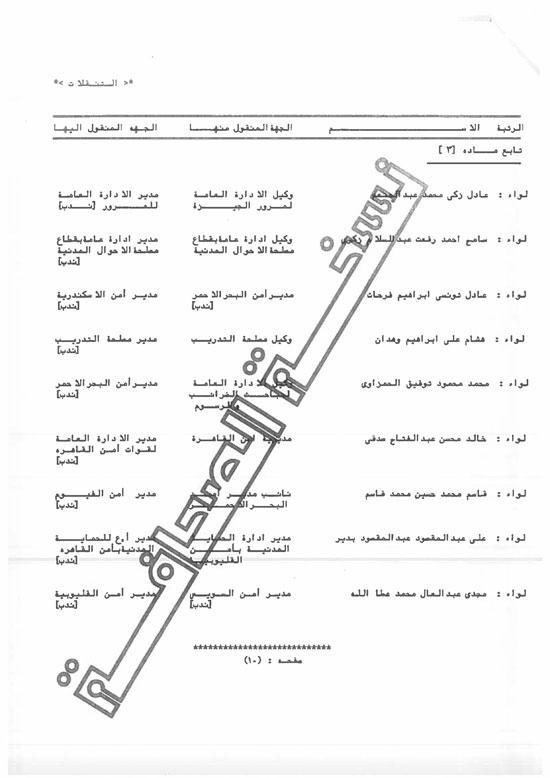 الحركة الكاملة لتنقلات الداخلية على مستوى الجمهورية (10)